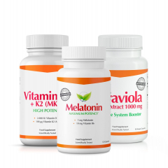 Fitnessfood Melatonin + Graviola + Vitamin D3 & K2 (MK7)